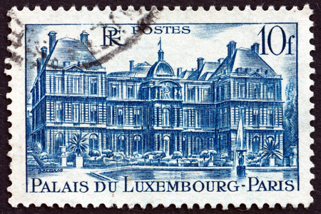 FRANCE - CIRCA 1946: a stamp printed in the France shows Luxembourg Palace, Paris, the Seat of the French Senate, circa 1946