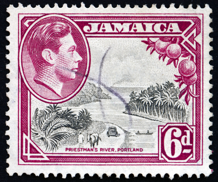 JAMAICA - CIRCA 1938  a stamp printed in Jamaica shows Priestman