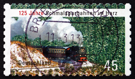 narrowgauge: GERMANY - CIRCA 2012: a stamp printed in the Germany shows Harz Narrow-gauge Railways, circa 2012 Editorial