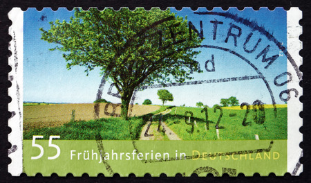 GERMANY - CIRCA 2012: a stamp printed in the Germany shows Spring Break, circa 2012