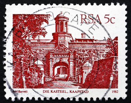surviving: SOUTH AFRICA - CIRCA 1982: a stamp printed in South Africa shows Die Kasteel, Kaapstad, the Castle of Good Hope is the Oldest Surviving Colonial Building in South Africa, circa 1982