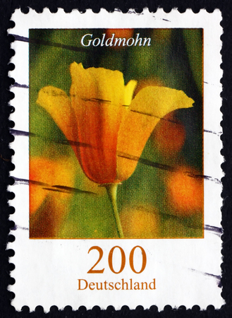 GERMANY - CIRCA 2007: a stamp printed in the Germany shows Golden Poppy, Eschscholzia Californica, Flowering Plant, circa 2007