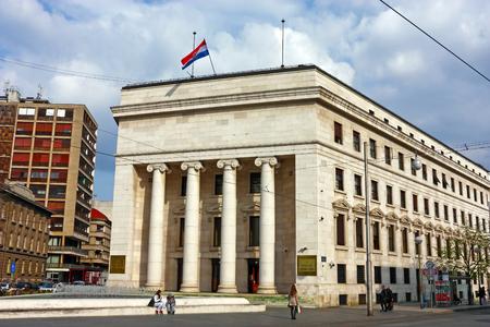 the central bank: ZAGREB, CROATIA � MARCH 27, 2014: Croatian national bank in Zagreb, central bank of Croatia