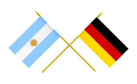 argentine: Flags of Argentina and Germany, 3d render, isolated Stock Photo