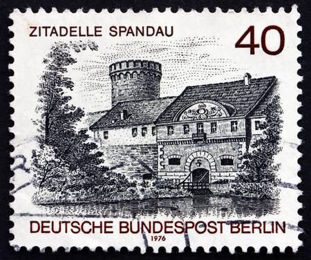 spandau: GERMANY - CIRCA 1976: a stamp printed in the Germany, Berlin shows Spandau Castle, Berlin View, circa 1976 Editorial