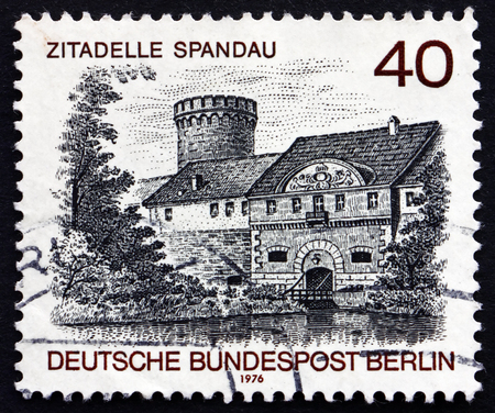 GERMANY - CIRCA 1976: a stamp printed in the Germany, Berlin shows Spandau Castle, Berlin View, circa 1976 Editorial