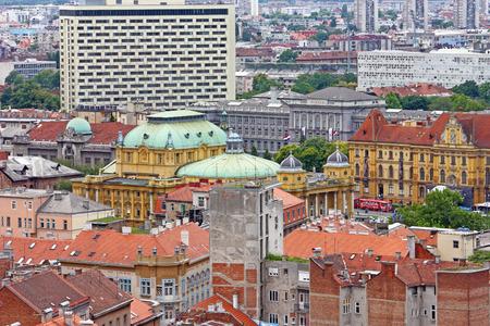 ZAGREB, CROATIA � JUNE 12, 2013: View of Zagreb city roofs, Croatia