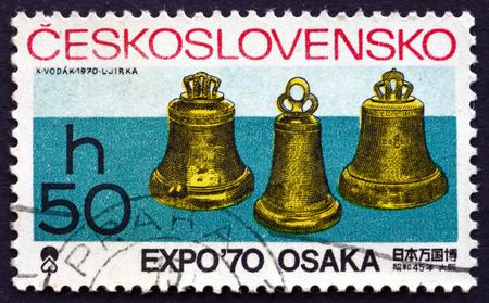 czechoslovakia: CZECHOSLOVAKIA - CIRCA 1970: a stamp printed in the Czechoslovakia shows Bells, EXPO 70 International Exhibition, Osaka, Japan, circa 1970