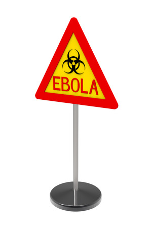 Ebola biohazard sign isolated on white 3d render photo