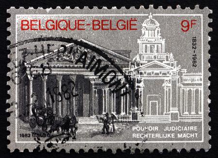 judiciary: BELGIUM - CIRCA 1982: a stamp printed in the Belgium shows Judiciary Sesquicentennial, circa 1982 Editorial