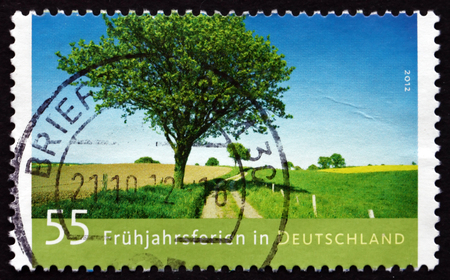 GERMANY - CIRCA 2012: a stamp printed in the Germany shows Spring Break, Holiday in Germany, circa 2012