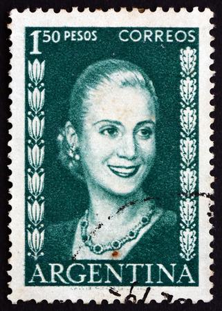 peron: ARGENTINA - CIRCA 1952: un francobollo stampato in Argentina mostra Maria Eva Duarte - 32157780-argentina--circa-1952-un-francobollo-stampato-in-argentina-mostra-maria-eva-duarte-de-peron-first-la
