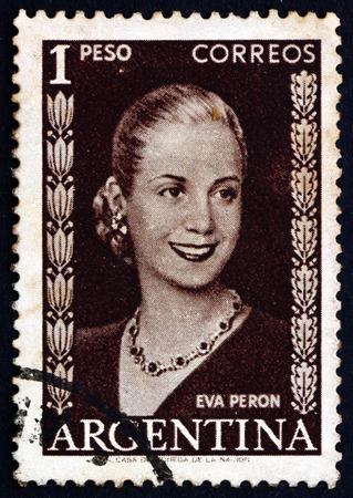 peron: ARGENTINA - CIRCA 1952: un francobollo stampato in Argentina mostra Maria Eva Duarte - 32165237-argentina--circa-1952-un-francobollo-stampato-in-argentina-mostra-maria-eva-duarte-de-peron-first-la
