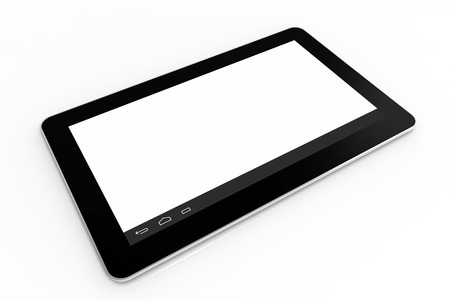 Black tablet computer on white, 3d render, illustration illustration