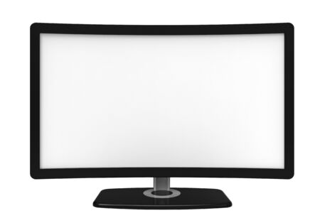 Curved tv screen, isolated on white background photo