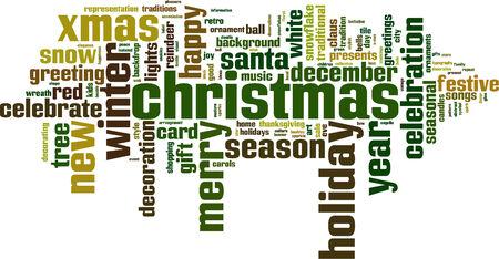 Christmas word cloud concept. Vector illustration Vector
