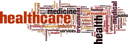 Healthcare word cloud concept. Vector illustration Imagens - 32980941