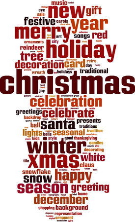 Christmas word cloud concept. Vector illustration Vector