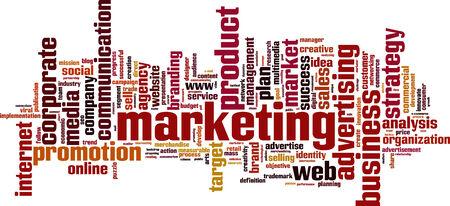 Marketing word cloud concept. Vector illustration