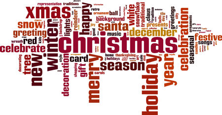 Christmas word cloud concept.  Vector