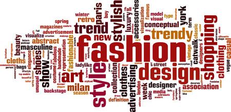 Fashion word cloud concept. Vector illustration