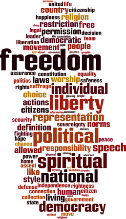 assent: Freedom word cloud concept. Vector illustration