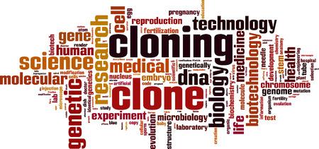 clonacion: Clonaci�n palabra concepto nube. Ilustraci�n vectorial