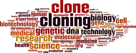 cloning: Cloning word cloud concept. Vector illustration