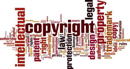 secret word: Copyright word cloud concept. Vector illustration Illustration