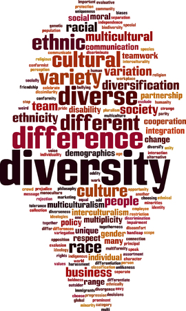 impairment: Diversity word cloud concept. Vector illustration