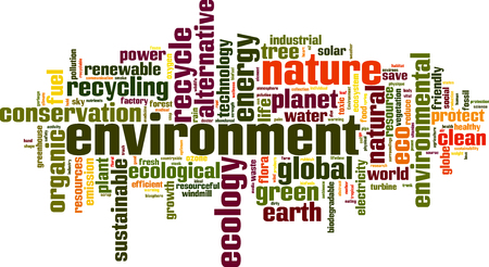 Environment word cloud concept. Vector illustration Illustration