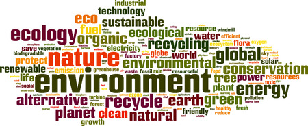 Environment word cloud concept. Vector illustration Vector