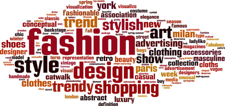Fashion word cloud concept. Vector illustration Stock Vector - 33480184