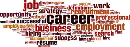 employee satisfaction: Career word cloud concept. Vector illustration