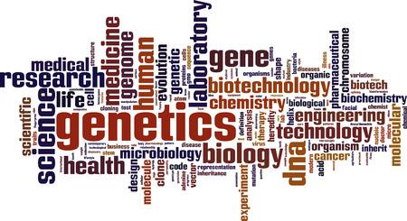 recessive: Genetics word cloud concept. Vector illustration Illustration