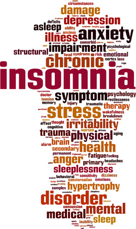 inability: Insomnia word cloud concept. Vector illustration
