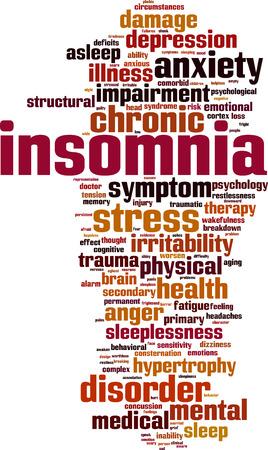 Insomnia word cloud concept. Vector illustration