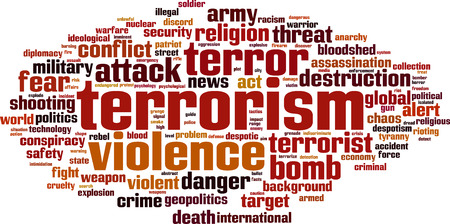 Terrorism word cloud concept. Vector illustration Stock fotó - 33556262