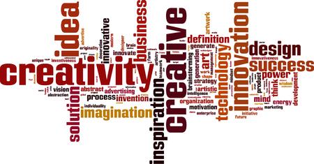 creativity: Creativity word cloud concept.  Illustration
