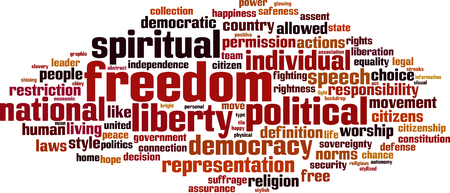 suffrage: Freedom word cloud concept.