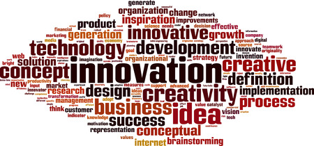 inventiveness: Innovation word cloud concept.