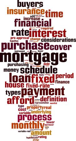 borrower: Mortgage word cloud concept. Illustration