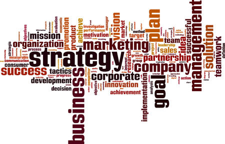 consumer society: Strategy word cloud concept.  Illustration