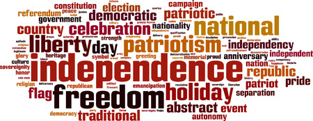 legitimate: Independence word cloud concept. Vector illustration Illustration
