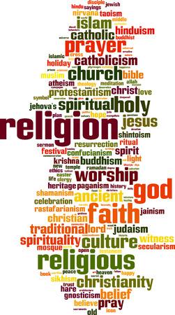 clergy: Religi�n palabra concepto nube. Ilustraci�n vectorial