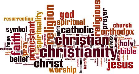 messiah: Parola Cristianesimo nuvola concetto. Illustrazione vettoriale