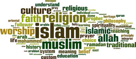 moses: Islam word cloud concept. Vector illustration Illustration