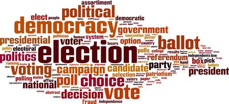 voter registration: Election word cloud concept. Vector illustration Illustration