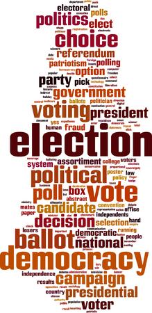 Election word cloud concept. Vector illustration Vettoriali