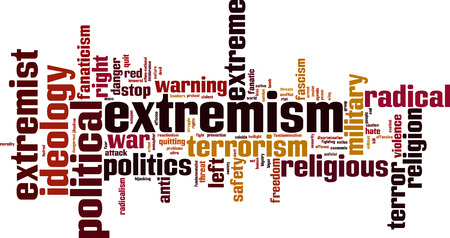 fanatic: Extremism word cloud concept illustration Illustration